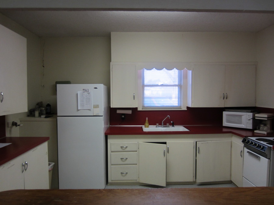 What our kitchen looked like before.